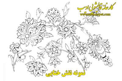 نقاشی طراحی گل