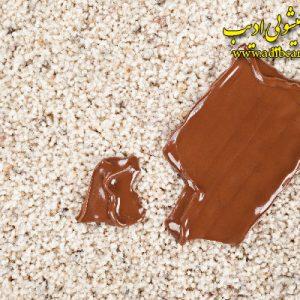 لکه شکلات از فرش کارخانه قالیشویی ادیب,قالیشویی,شستشوی فرش,اعلاشویی